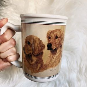 Vintage Golden Retriever mug